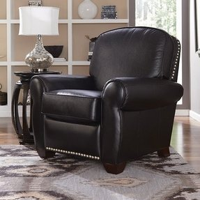 Low profile recliner chairs