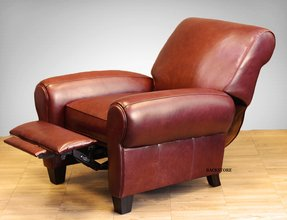 New barcalounger lectern ii recliner lounger chair whiskey top grain