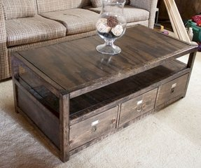 Pottery barn map coffee table