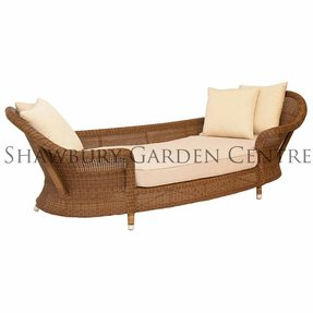 Rattan chaise lounge outdoor