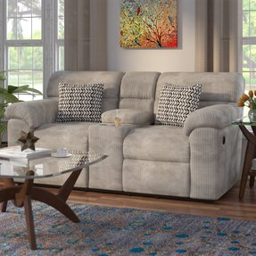 Reclining microfiber sofa and loveseat set