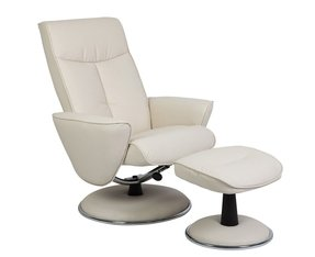 Reclining swivel chair with ottoman