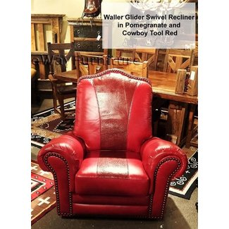 Red reclining chair