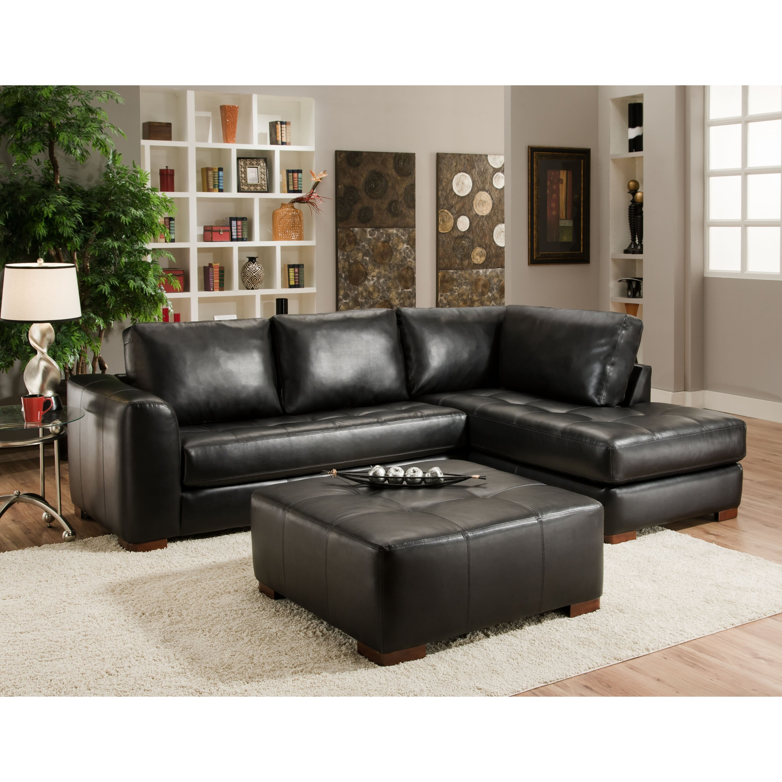Beau Small Leather Sofa With Chaise