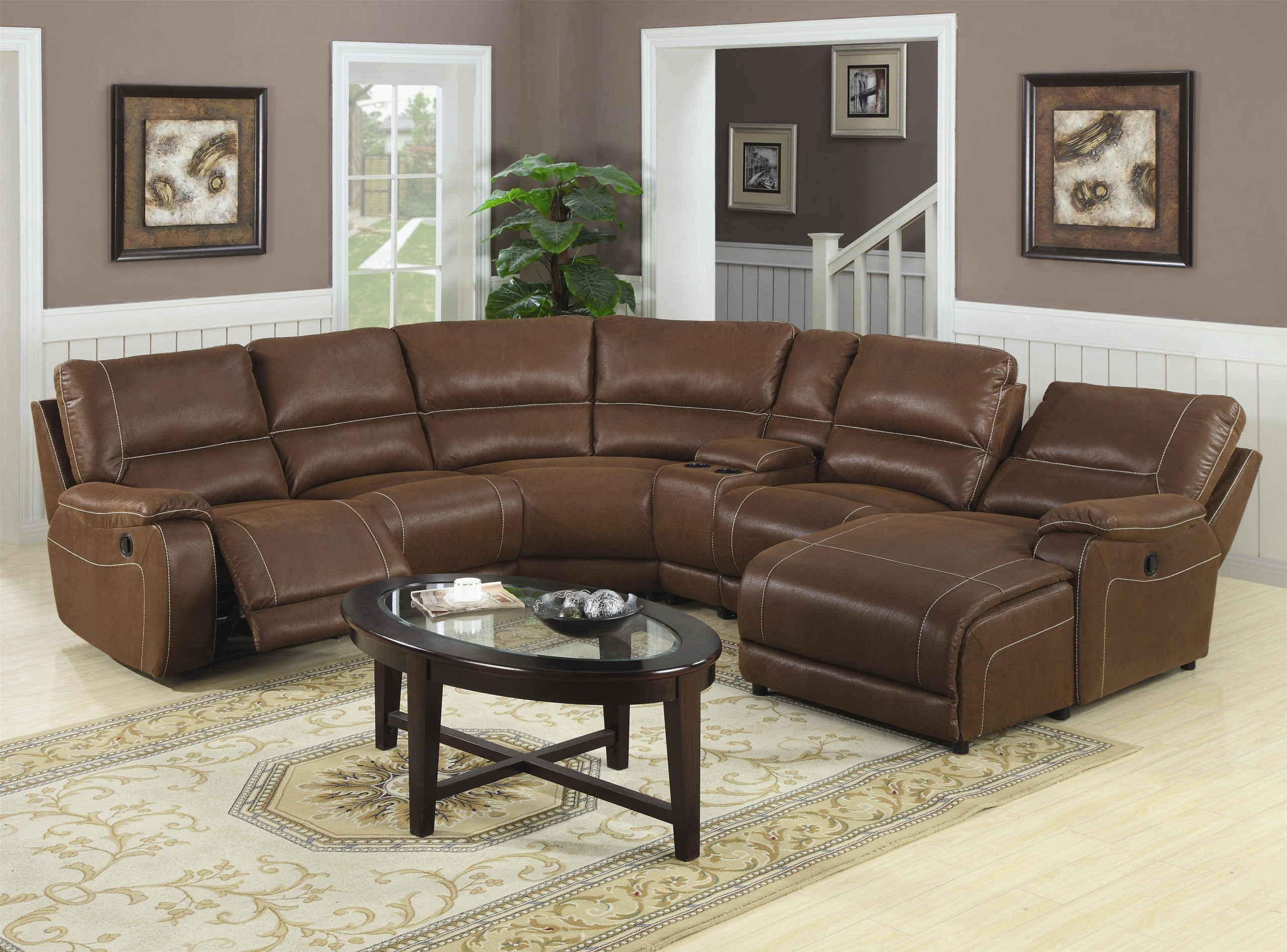 Gentil Small Sectional Sofa With Recliner 1