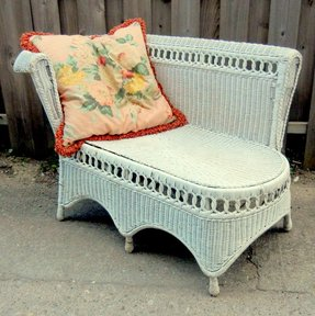 Wicker chaise lounges 4