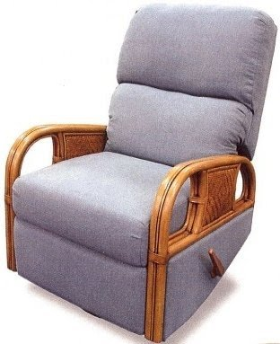 Wicker outlet rattan recliner glider indoor elliot