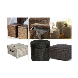 Superb Wicker Storage Ottomans Ideas On Foter Squirreltailoven Fun Painted Chair Ideas Images Squirreltailovenorg