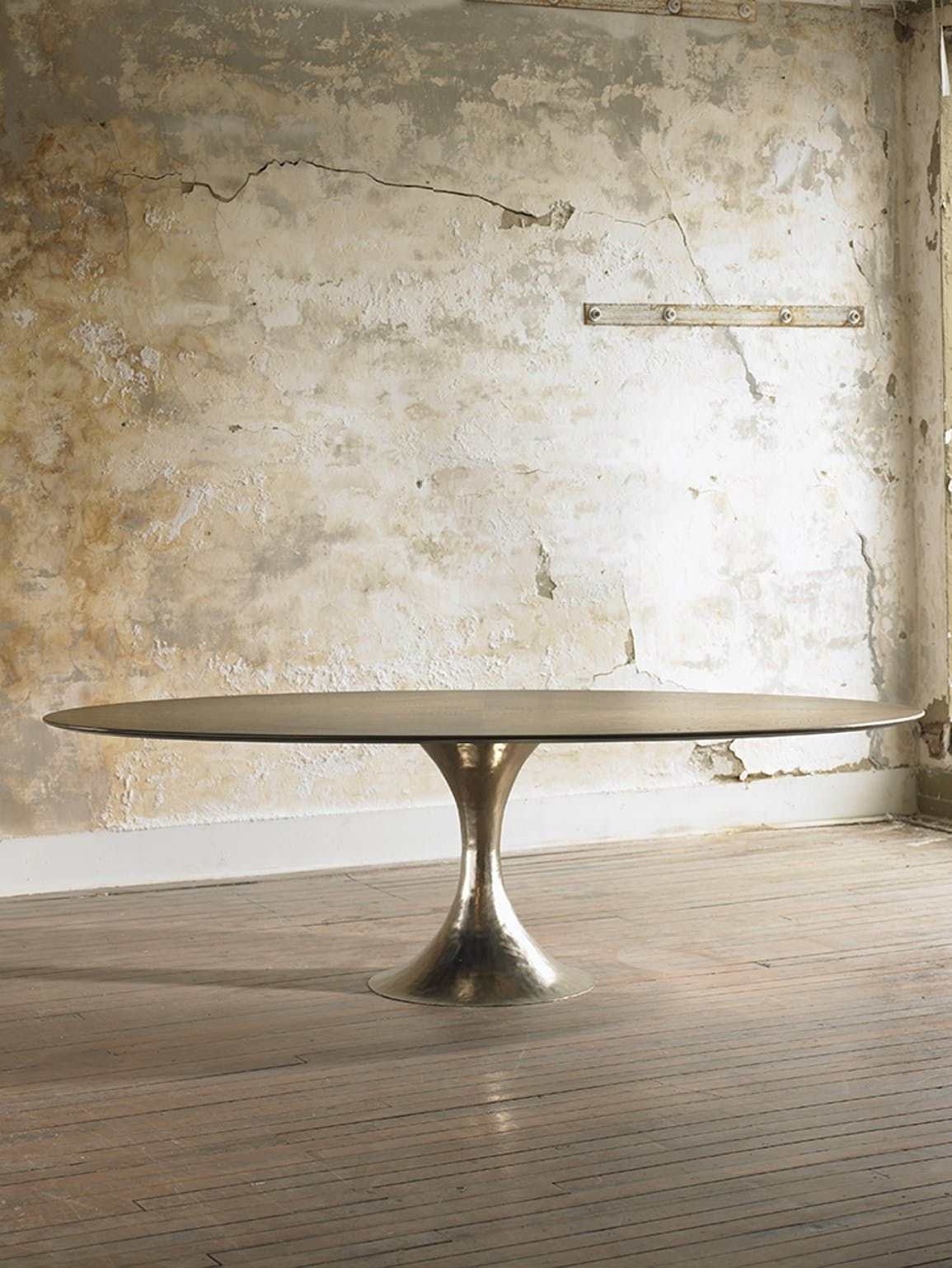 Wood Oval Dining Table