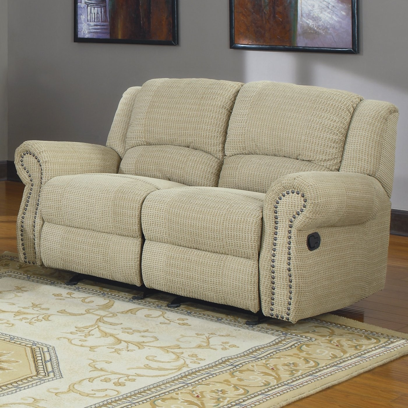 Woodbridge home designs quinn double rocker reclining loveseat