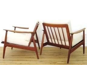 60s danish modern pair of wegner style 1