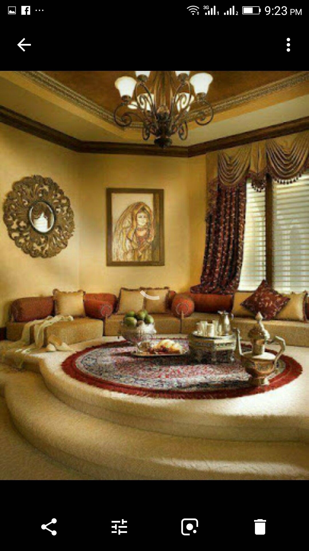 A Moroccan Style Platform Majlis Sitting Room