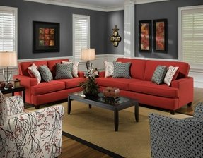 Accent chairs red
