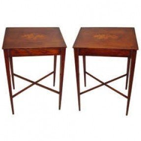 Antique mahogany side table 1