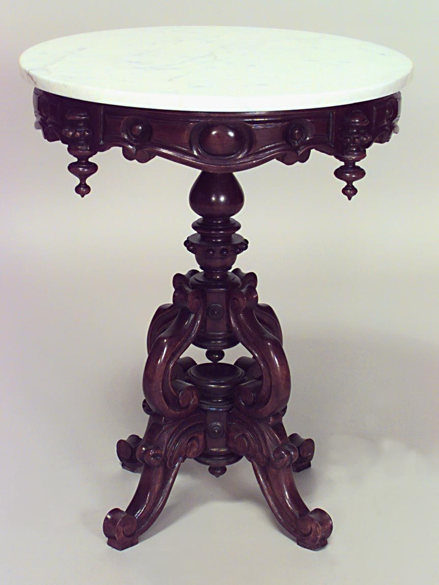 Antique pedestal tables