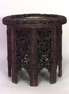 Asian indian southeast asian table end table rosewood 1