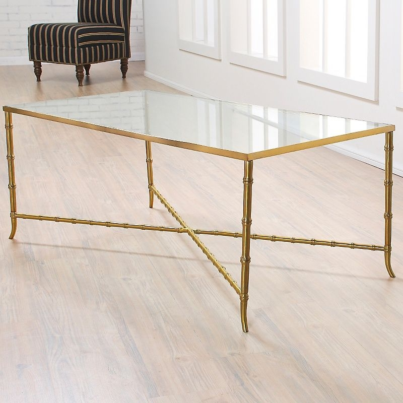 Bamboo glass table