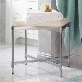 Bathroom vanity benches and stools