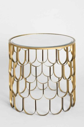 Brass and glass end tables