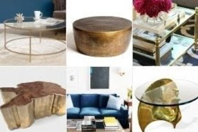 Brass coffee tables