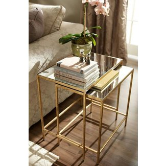 Brass end tables 8