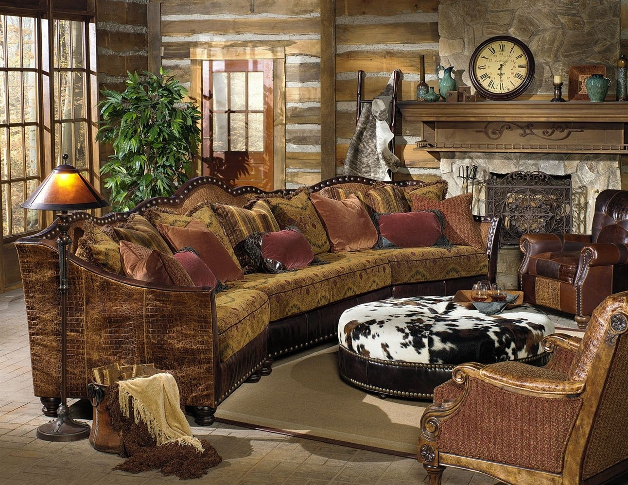 Exceptional Cabin Themed Living Room