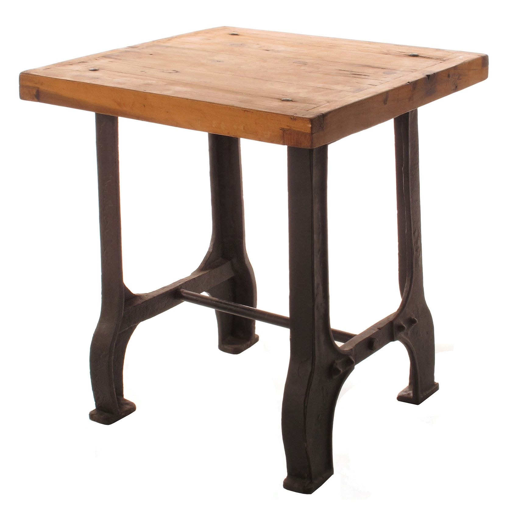 Charmant Cast Iron End Tables