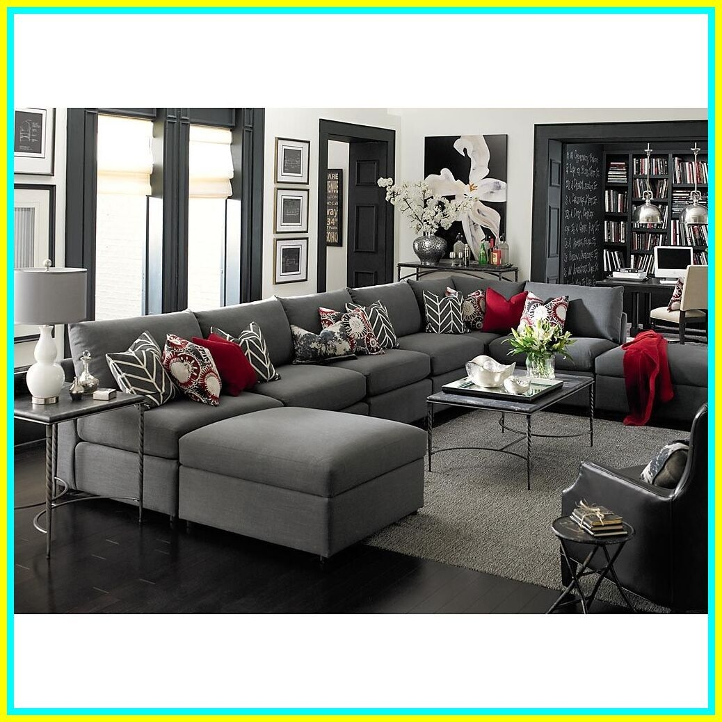 Gentil Charcoal Gray Sectional Sofa