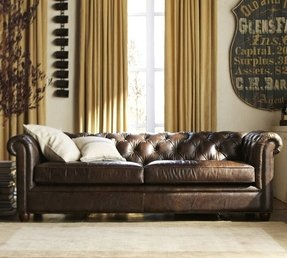 Chesterfield tufted leather sofa collection 3