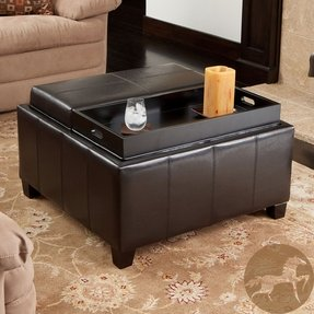 Swell Leather Storage Ottoman With Tray Ideas On Foter Ibusinesslaw Wood Chair Design Ideas Ibusinesslaworg