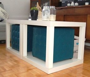 Coffee table with ottoman seating 5