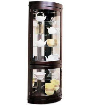 Contemporary Corner Curio Cabinet