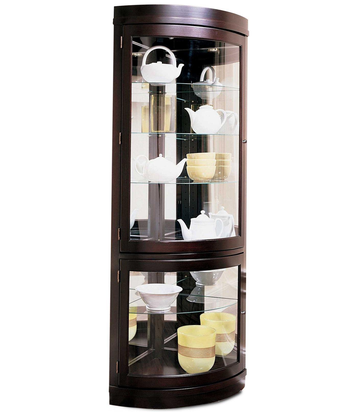 Attirant Contemporary Corner Curio Cabinet