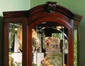 Cherry Corner Curio Cabinet Foter