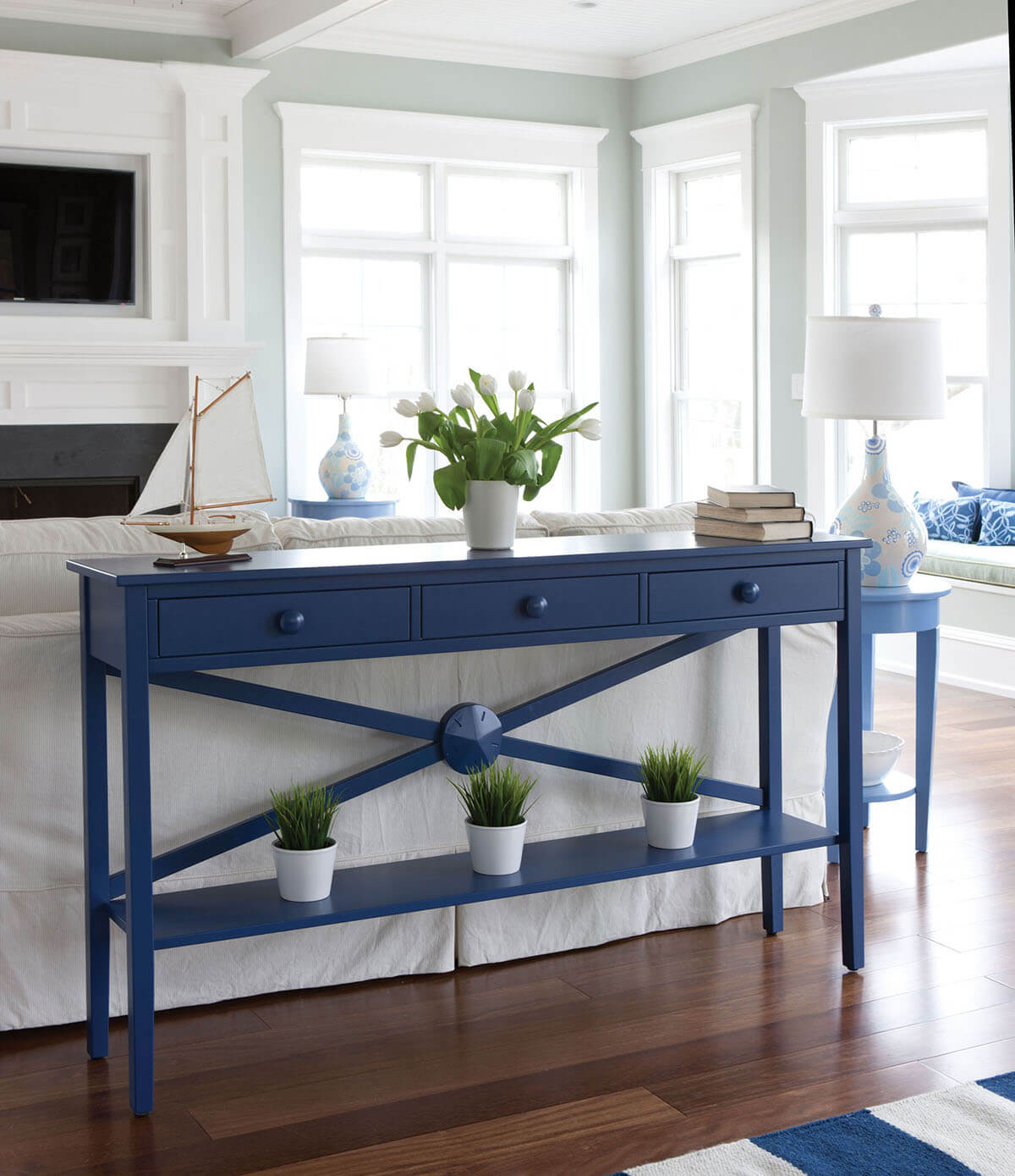Cottage Console Table Best Home Interior - Cottage style console table