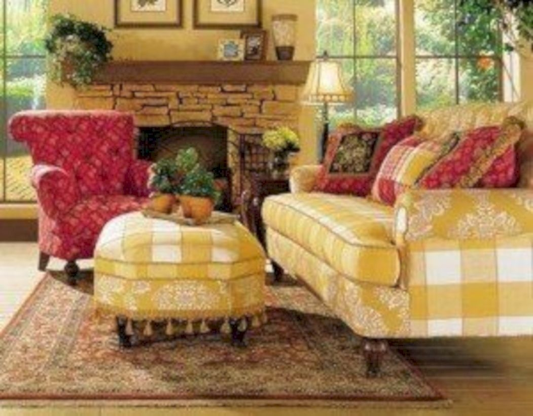 Country French Ottomans
