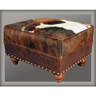 Cowhide ottoman for sale