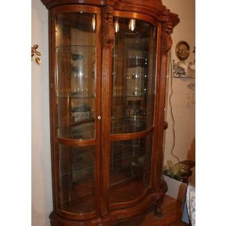 Charming Curved Glass China Cabinet