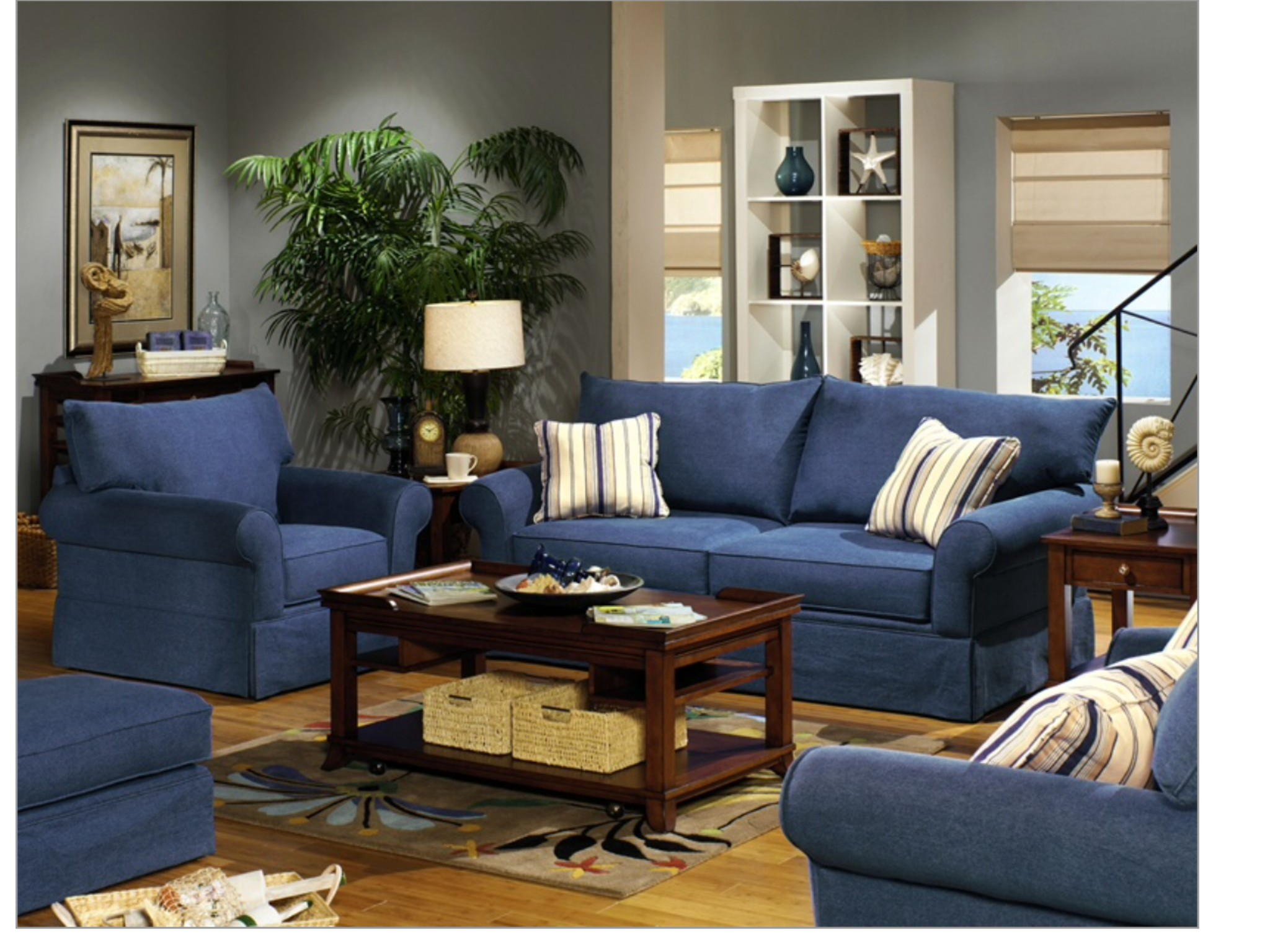 Charmant Denim Furniture Living Rooms