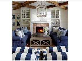 Denim living room furniture