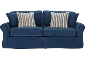 Denim sectional sofa