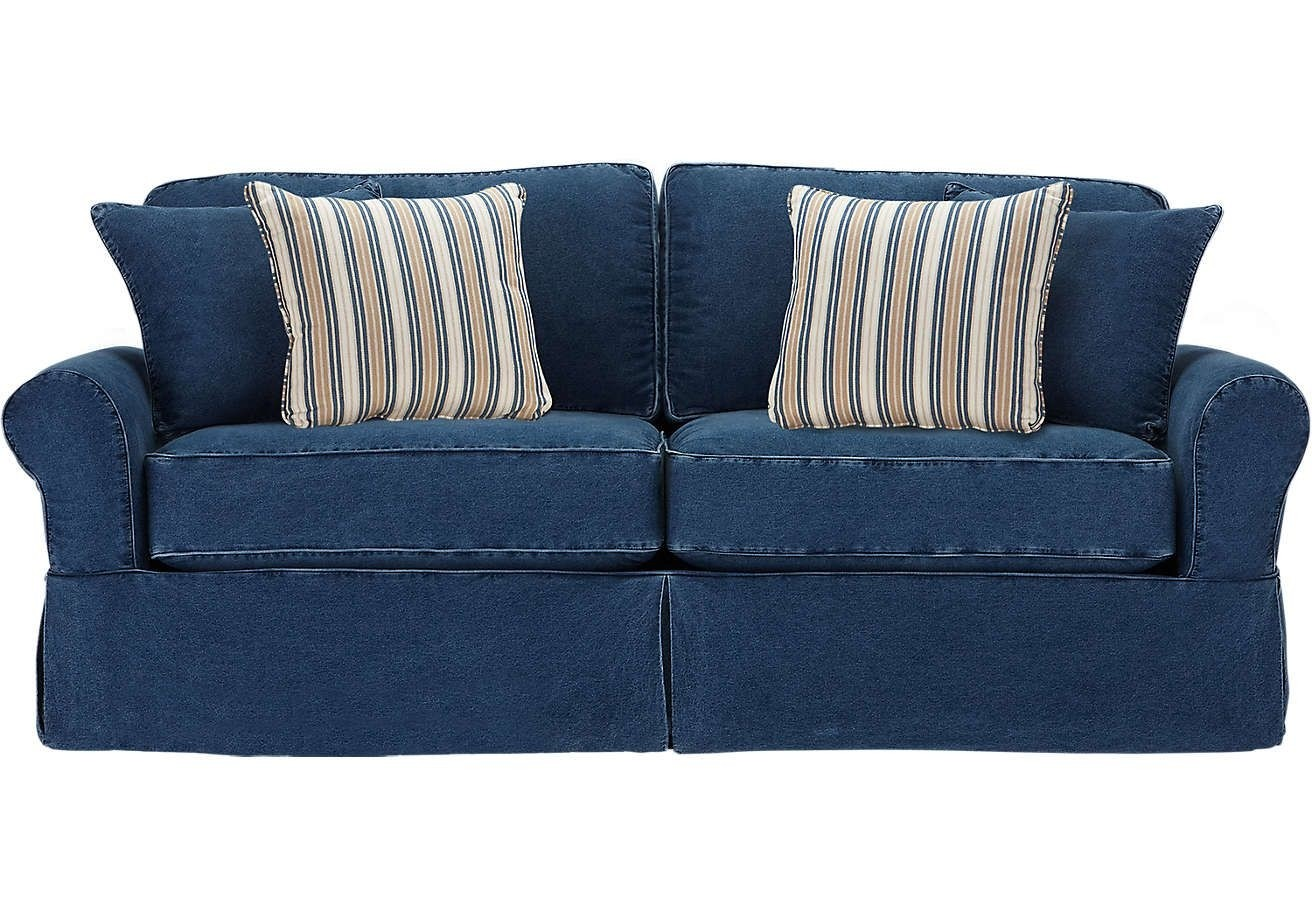 Attractive Denim Sectional Sofa