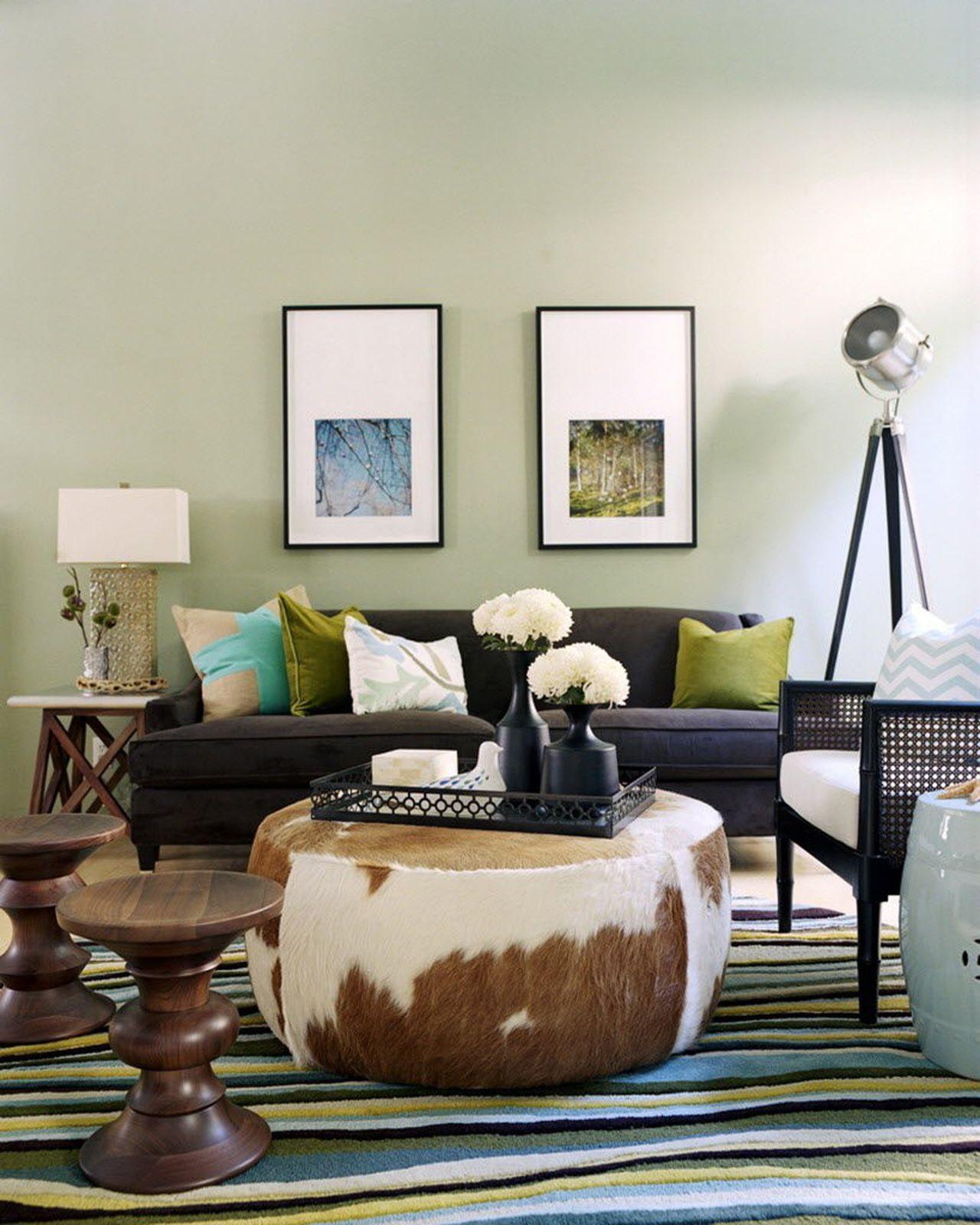 Designer Spotlight Kyle Schuneman Cowhide Ottoman