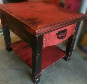 Distressed end table 2