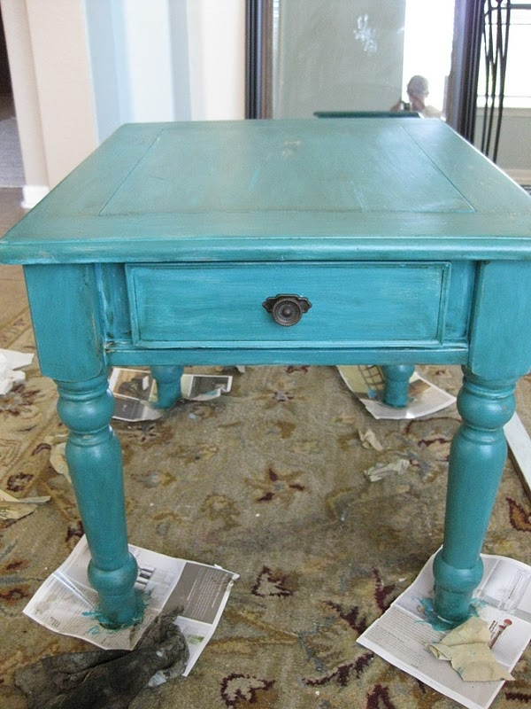 Distressed End Table 8
