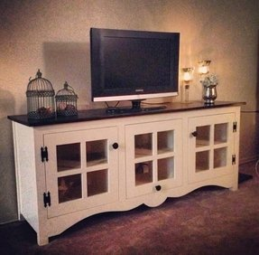 Dresser used as tv stand