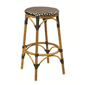 G And A Commercial Seating 831 Outdoor Metal Backless Bar Stool Aluminum Bamboo 30