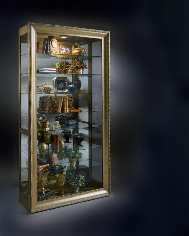 Gold Curio Cabinet