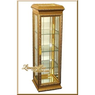 Gold curio cabinets 1