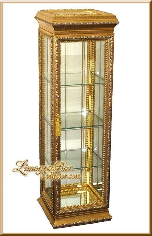 Superbe Gold Curio Cabinets 1